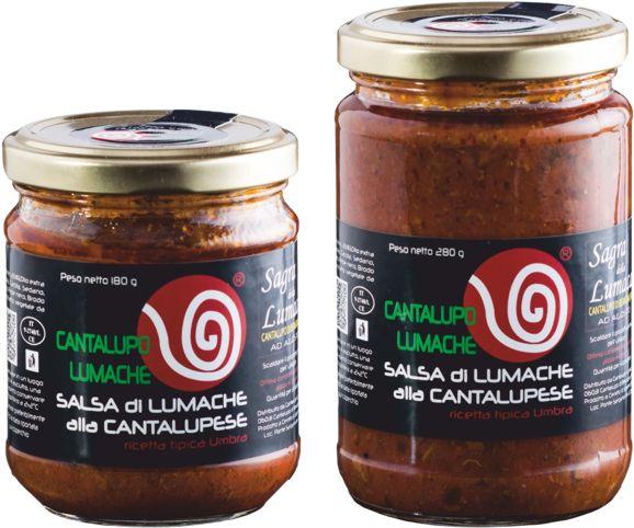 vendita di vasetti con salsa di lumache alla cantalupese